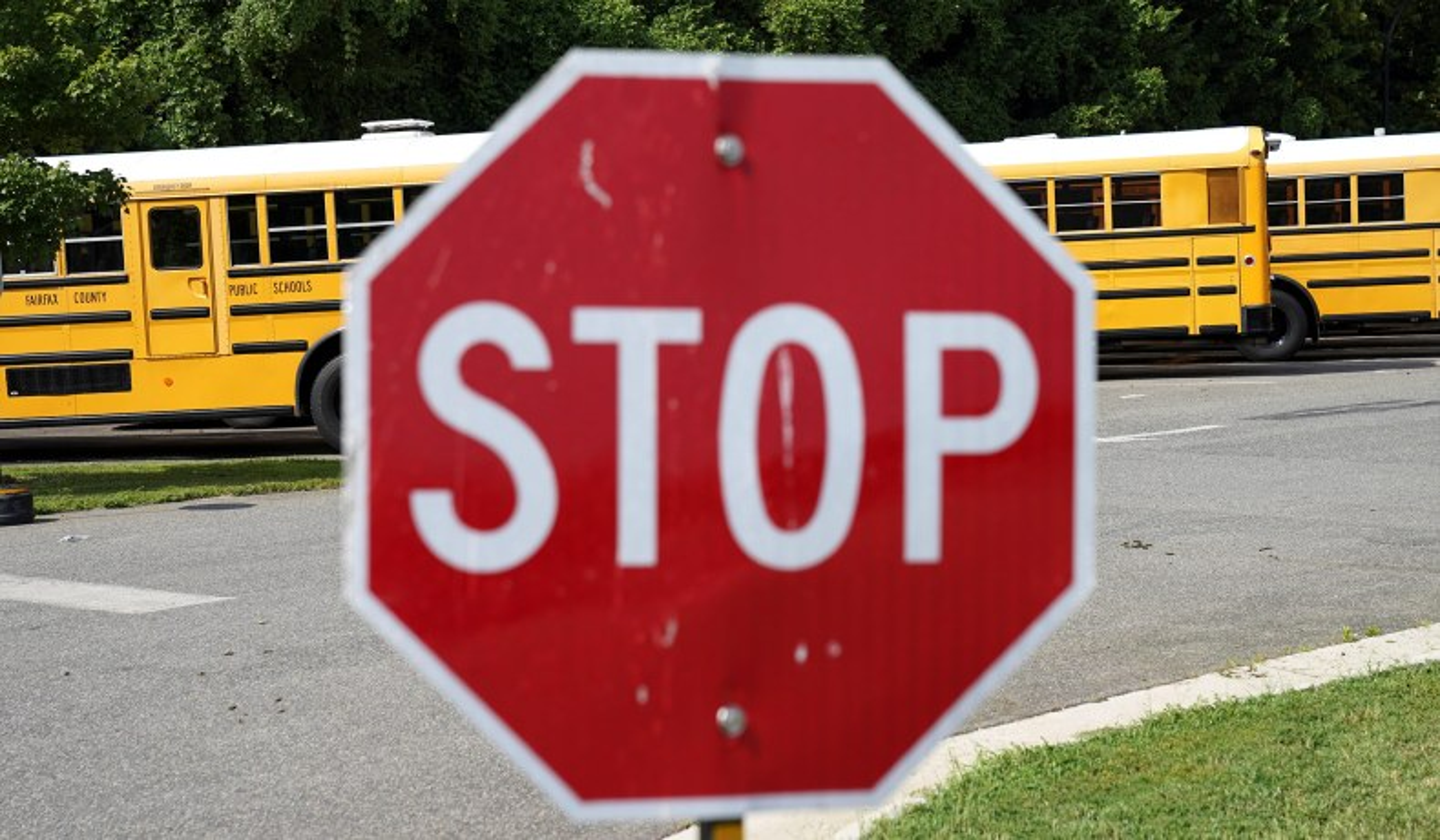 fairfax county bus stop sign