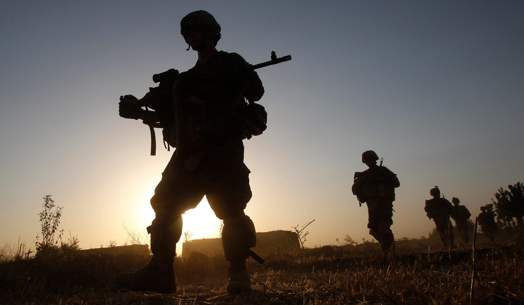 U.S. Army soldiers patrol in Kandahar Province, Afghanistan, in 2011. (Baz Ratner/Reuters)