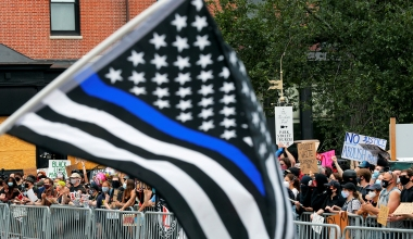 School Forced Teacher to Take Down 'Political' Pro-Police Flag, Despite Allowing BLM Symbols