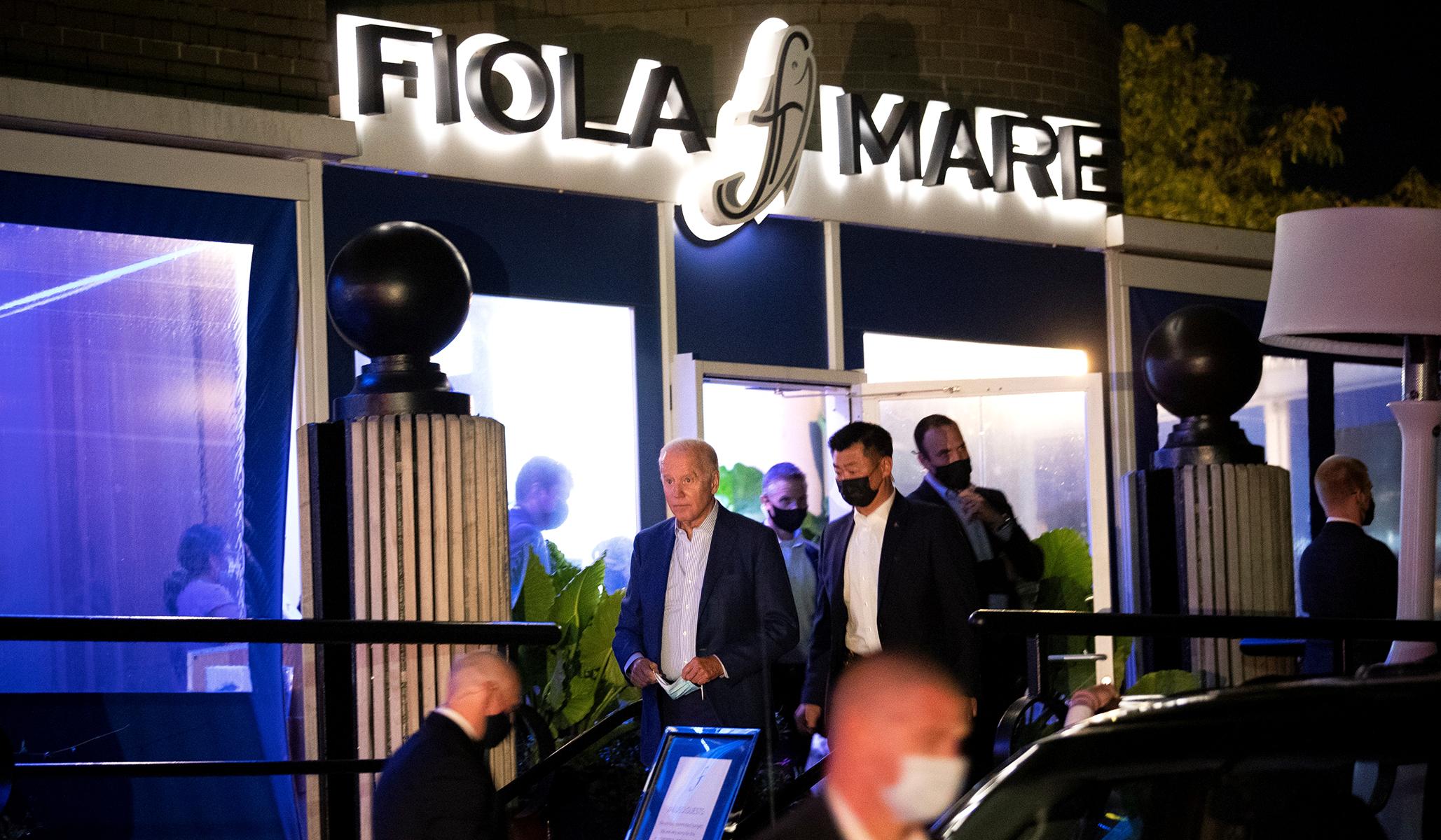 Biden Caught on Video Violating D.C. Mask Mandate at Upscale Restaurant